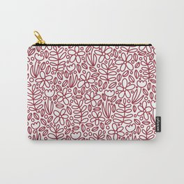 'Blomst' - Red Carry-All Pouch
