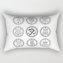 Eight Auspicious Symbols - Buddhism Rectangular Pillow