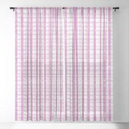Vichy Mauve Sheer Curtain