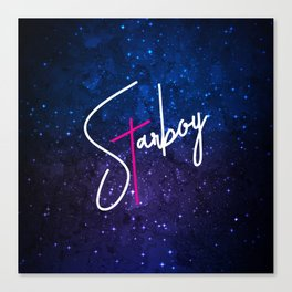Starboy Galaxy Canvas Print