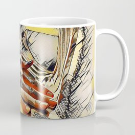 1177s-AK Erotica in the Style of Kandinsky Fingers on Pubis Striped Nude Coffee Mug