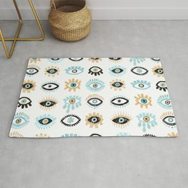 Evil Eye Illustration Rug
