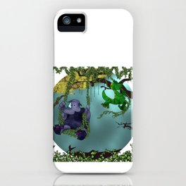 Rhino and Dino Swing iPhone Case