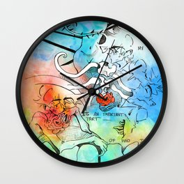 My Doubt is an Important Part of Who I Am Wall Clock
