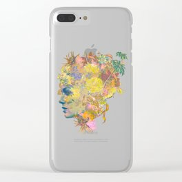 Tropical Woman Clear iPhone Case