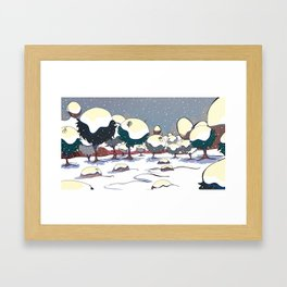 Snow Valley Framed Art Print