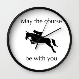 May the course be with you Wall Clock