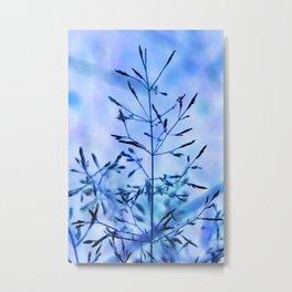 Blue Grass Metal Print