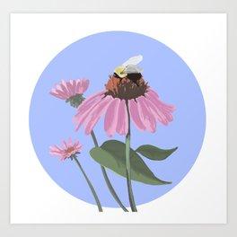 Bumble-y Bee Art Print