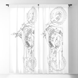 a motorcycle Blackout Curtain