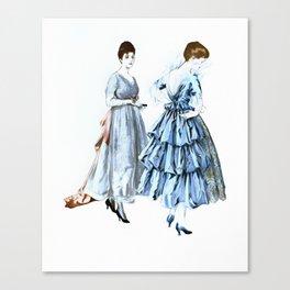 Two Vintage Dresses Canvas Print