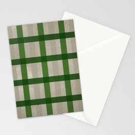 Evergreen Cozy Cabin Plaid Stationery Cards