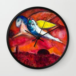 True Love (Songs of Songs IV) by Marc Chagall Wall Clock