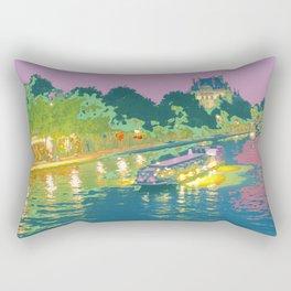 Paris in Pastel - Seine Evening Rectangular Pillow