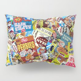 Cereal Boxes Collage Pillow Sham