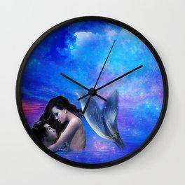 Mermaid Lovers Wall Clock
