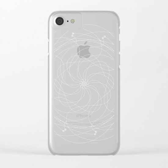 Ornament – Merry Go Round Flower Clear iPhone Case