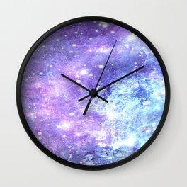 Grunge Galaxy Lavender Periwinkle Blue Wall Clock
