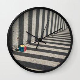 Rubik shading stripes Wall Clock