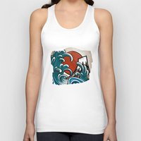 comic Tank Tops featuring Hokusai comic by Nxolab