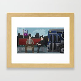 THE BUS STOP with JACK HARKNESS & PHIL COULSON Framed Art Print