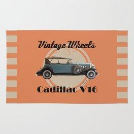 Vintage Wheels: 1931 Cadillac V16 Rug