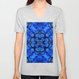 Blueberry Psychedelic Arts - Foodie - Salad - Healthy Food Art Unisex V-Neck