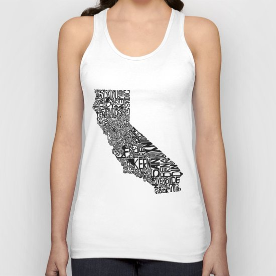 Typographic California Unisex Tank Top
