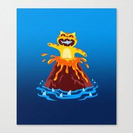 Volcano Cat Canvas Print