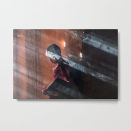 Young Monk in Bagan Metal Print
