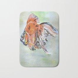 Cartoon Style Ryukin Goldfish Bath Mat