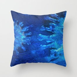 micro blue Abstract ( Limited 01 / 50#) Throw Pillow