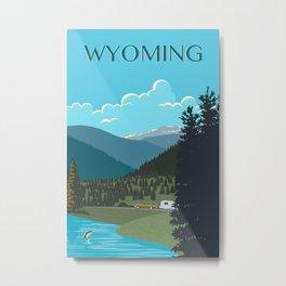 Wyoming Travel Poster Metal Print