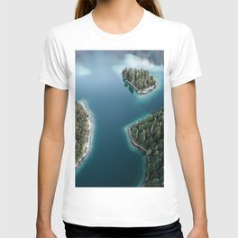 Lakeside Views at Sunset - Landscape Photography T-shirt