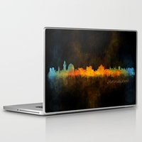 islam Laptop & iPad Skins featuring Jerusalem City Skyline Hq v4 by HQPhoto