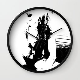 Black and white Girl Wall Clock