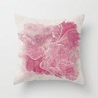 kiss Throw Pillows featuring KISS  by Marica Zottino