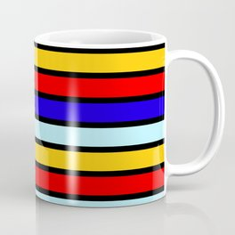 Red And Blue Contrast Yellow Stripes Coffee Mug