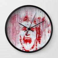 american psycho Wall Clocks featuring AMERICAN PSYCHO by John McGlynn