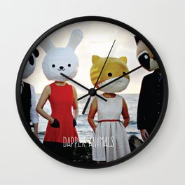 Dapper Animals Sunset Faces Wall Clock