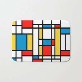 Tribute to Mondrian No2 Bath Mat