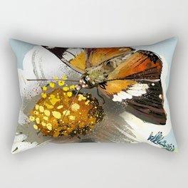 Butterfly on flower 12 Rectangular Pillow