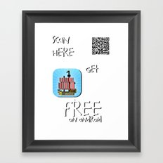 Pixel Pirate Run on Android Framed Art Print