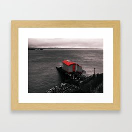 Lifeboat House Framed Art Print