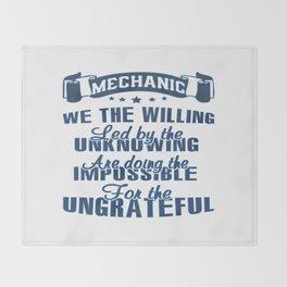 Mechanic Throw Blanket