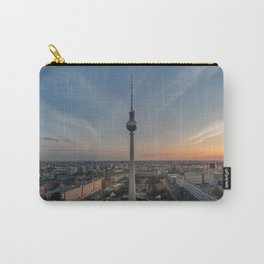 TV Tower at Sunset Carry-All Pouch