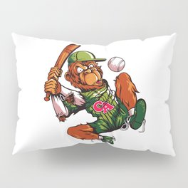 Baseball Monkey - Limerick Pillow Sham