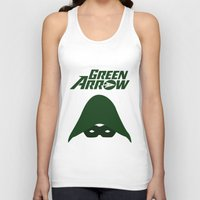 green arrow Tank Tops featuring The Green Arrow by bivisual