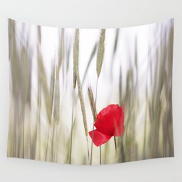 Poppy Abstract Wall Tapestry