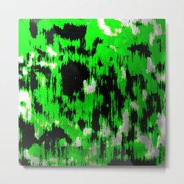 Neon Fractures Metal Print